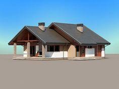 Projekt domu Maja - widok z boku i z przodu Home Fashion, Home Projects, Ideas Para, Gazebo, House Plans, Home Improvement, Outdoor Structures, Cabin, Architecture