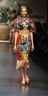 Never a major D & G fan (mens at least) but blown away by Dolce & Gabbana Spring Summer 2013 Collection...gorgeous prints and headbands