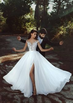 Chic White Wedding Dress Chiffon Lace Cheap Wedding Dress # Source by bckfranzis Related posts:Dressylady Charming Lace Appliques Backless Wedding Dress for Bride with Beaded . Split Prom Dresses, Wedding Dresses 2018, White Wedding Dresses, Cheap Wedding Dress, Bridal Dresses, Beach Dresses, Bridesmaid Dresses, Cheap Dress, Modest Dresses