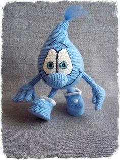 Crochet water drop