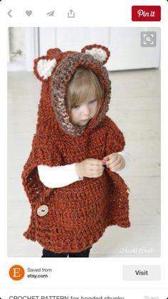 Toddler fox poncho