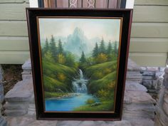 Vintage Asian K.S. Kim Landscape Oil Painting Waterfall Valley Trees 30x24 Vintage Landscape, Waterfall, Trees, Asian, Oil, Painting, Ebay, Arbor Tree, Tree Structure
