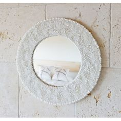 Clamrose Seashell Wall Mirror $244.99 by Wayfair