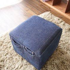 Låt dina gamla jeans ta plats i trädgården, i bordsdukningen eller i soffan. Smart och snyggt!