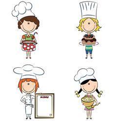 Chef Cooking Cartoon   Cartoon Female Chefs Vector Art Download Cartoon Vectors » Cartoon ...