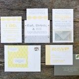 yellow and gray invitations