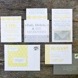 yellow and gray invitations