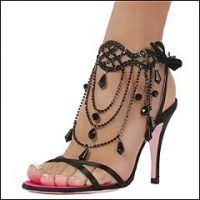 black jeweled sandals... wear with a little black dress. Love!.