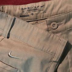 "Mens Nike Golf Dri Fit Tour Performance Khaki Shorts 34 Flat Front 10.5"" In-Seam #Nike #KhakisChinos"