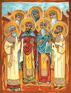 Martyrs Gerontius, Serapion, Herman, Bessarion, Bessarion and Simeon of the St David Gareji Monastery, Georgia