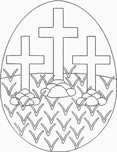 Easter Christian Coloring Pages Easter Egg Coloring Pages, Bible Coloring Pages, Coloring Pages To Print, Coloring Pages For Kids, Free Coloring, Easter Cards Religious, Easter Egg Designs, Easter Story, Diy Ostern