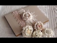 Puffy Shabby Flower Tutorial and small project share. - YouTube
