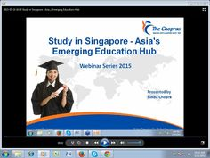 Webinar - Study in Singapore - Asia's Emerging Education Hub