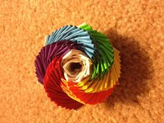 Rainbow Duct Tape Flower.