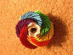Rainbow Duct Tape Flower.