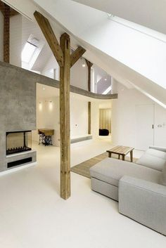 Rounded Loft, een moderne zolderwoning met onbegrensde ruimte en vloeiende vormen