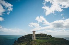 Destination wedding in Wicklow Lighthouse – four seasons in one day! Alternative Wedding Venue, Destination Wedding, Wedding Venues, Water Lilies, Wedding Coordinator, Four Seasons, Seattle Skyline, Perfect Place, Lighthouse