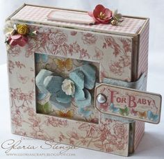 Many of you were excited about this little altered art box and mini album that I created for my Graphic 45 Design Team submission. Graphic 45, Altered Boxes, Altered Art, Baby Mini Album, Mini Albums Scrap, Mini Album Tutorial, 3d Paper Crafts, Paper Crafting, Album Book