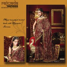 Most Beautiful Bridal with Rajwada Sarees.