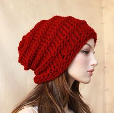 Chunky Slouchy Hat Winter Beanie Skiing by endlesscreation on Etsy, $29.00