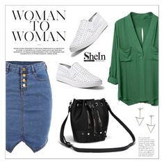 """""""Sheinside"""" by water-polo ❤ liked on Polyvore featuring Steve Madden, Sheinside and polyvoreeditorial"""