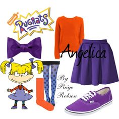 Fall look inspired by Rugrats (Angelica) | Paige-robson on Polyvore