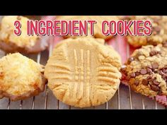 Whip up my 3 Ingredient Peanut Butter Cookies recipe in minutes. My easy Peanut Butter Cookies taste as good as a classic recipe without all the fuss. Peanut Butter Cookies 3 Ingredient Recipe, 3 Ingredient Cookies, Easy Peanut Butter Cookies, 3 Ingredient Recipes, Cookies Ingredients, Cookies Vegan, Healthy Cookies, Amazing Cookie Recipes, Bigger Bolder Baking