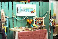 Craft Booth Display Ideas | Display by Olive Blue . I love Nicole's use of an old fence as her ...