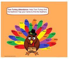 turkey attendance smartboard - Google Search