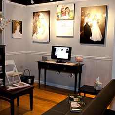 Well, I'm finally feeling better and I have about 894 things on my to-do list, but first I wanted to show off my booth from this past Sunday's bridal show at the Bell Auditorium. This was my first bridal show and I really didn't show what to expect. I took the advice of fellow photographer, Dale…