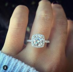 Incredible square cut diamond ring