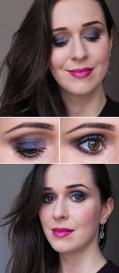 blue smokey eye using Urban Decay x Gwen Stefani palette