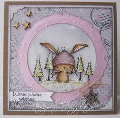 """""""Birch"""" , so heißt der süße Hase von Stacey Yacula , den es als Stempel bei Purple Onion Designs  zu kaufen gibt. Ich bin ja ein großer Has..."""