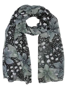 Elegant Black Color Horse Print Scarf Scarves Stole Wrap Shawl Sarong