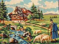 Vintage French needlepoint http://gallery.ru/