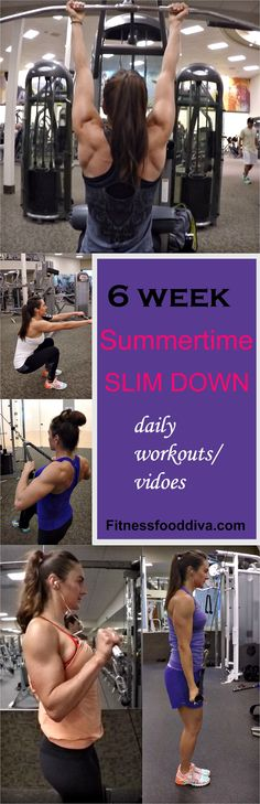 6 Week Summertime Slim Down  Program with all the workouts and videos!