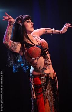 Sharon Kihara performs a traditional belly dance at The Massive Spectacular!