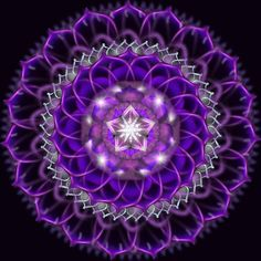 """MANDALAS - Color Me Divine. This mandala has many 'pins' I am honored that """"I Am"""" is very popular! Purple Love, All Things Purple, Shades Of Purple, Purple Stuff, Fractal Art, Sacred Geometry, My Favorite Color, Scrapbook, Butterfly Mandala"""