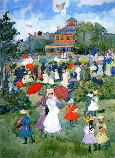 Franklin Park, Boston, 1896-1897 - Maurice Prendergast
