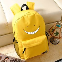3634c3991ea High-Quality Large Capacity Canvas Happy Face Backpack 3 Colors
