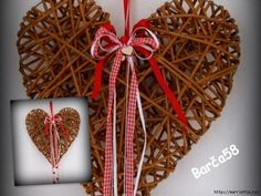 corazon de cesteria Corn Dolly, Willow Weaving, Newspaper Basket, Freebies, Rubrics, Paper Crafts, Valentines, Christmas Ornaments, Knitting