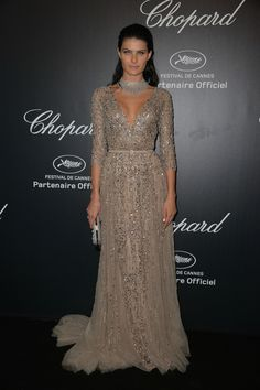 Isabeli Fontana in Alta Costura otoño 2013 Elie Saab dress