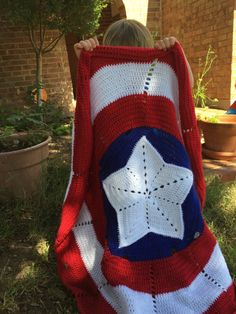 American Hero Crochet Pattern Small Blanket by TheWoodenZebra