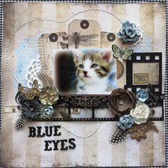 Scrapsels from Lean: Blue eyes made with 7 dots