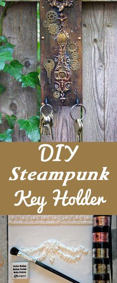 Make your own ornate moldings and create a DIY Steampunk Key Holder! Tutorial by Heather Tracy for Graphics Fairy.
