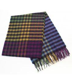 John Hanly Irish Throw Blanket 100/% Lambswool 54 Wide by 71 Long Fringed Soft Warm Irish Gift Home Made in Ireland Blue//Grey Plaid