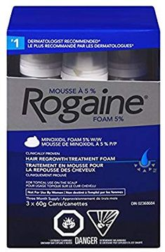 Rogaine Men's Hair Loss & Thinning Treatment for Hair Regrowth, Minoxidil Foam Extra Strength, 3 Month Treatment Mousse, Hair Regrowth, Hair Loss, New Hair, Hair Care, Personal Care, Amazon, Beauty, Strength
