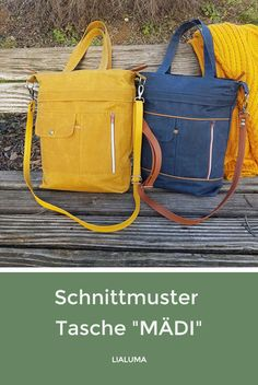 Schnittmuster Tasche MÄDI, You are in the right place about DIY Bag tsh Feed Bag Tote, Feed Bags, Tote Bag, Patchwork Bags, Quilted Bag, Bag Patterns To Sew, Sewing Patterns Free, Pattern Sewing, Diy Bebe