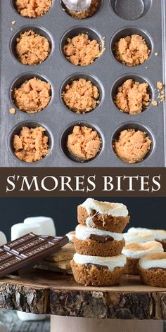 indoor smores Smores Bites - a twist on the classic dessert, make these little Smores Bites in the oven! Oven Smores, Baked Smores, Smores In The Oven, Oven Recipes, Apple Recipes, Gourmet Recipes, Smores Dessert, Cheap Clean Eating, Clean Eating Snacks