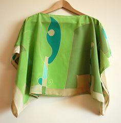 Blusa de seda pintada a mano-Top para boda-Blusa para